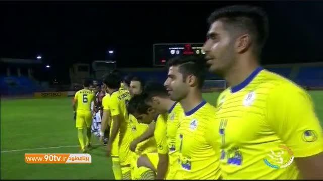 گفتگو با منصوریان و بازیکنان نفت پیش از بازی با الاهلی