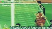 شعار دادن برخی هواداران اسپانیا علیه پیکه در تمرینات