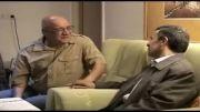 عیادت سرزده احمدی نژاد از حسین محب اهری