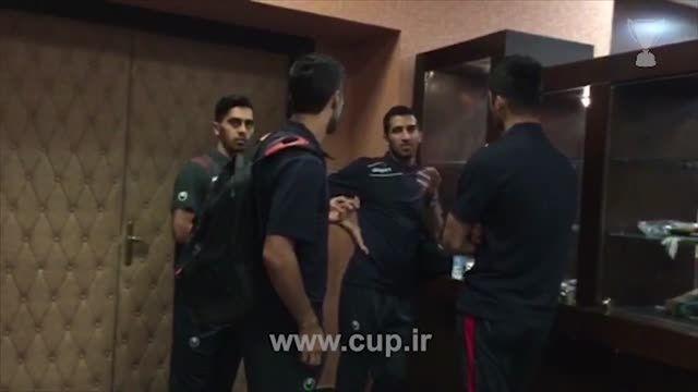 شوخی با اعضای تیم ملی قبل از اعزام به اردوی امارات
