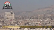 جبار - لحظه سقوط بمب روی انبار مهمات همراه با تصویر آهسته