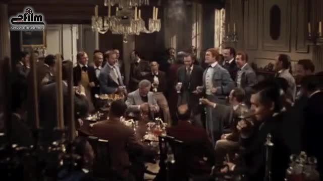 اولین سکانس های حضور کلارک گیبل در فیلم بر باد رفته