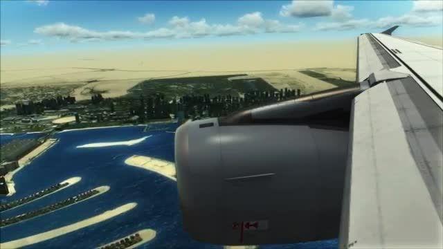 تصاویر بسیار جذاب از فرود در فرودگاه دبی شبیه ساز