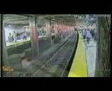 خودکشی نافرجام در مترو