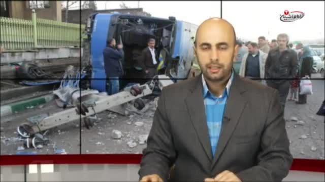واژگونی اتوبوس حامل زائران کربلا