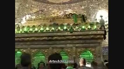 زیارت آیت الله هاشمی در کربلای معلی ۱۳۸۷