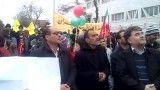مراسم راهپیمایی 22 بهمن مدرسه راهنمایی شاهد خوی بهمن 1391
