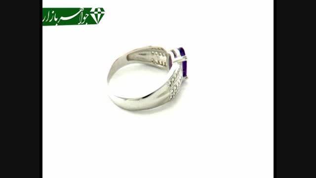 انگشتر آمتیست طرح بهار زنانه - کد 5753