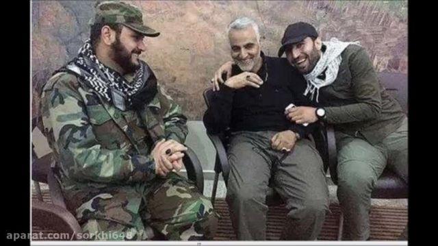 تصویر سردار سلیمانی در کنار دشمن شماره یک داعش-سوریه