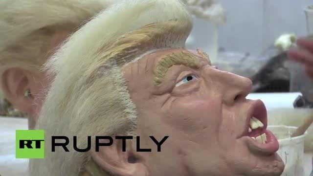 ماسک هالویین دونالد ترامپ نامزد ریاست جمهوری آمریکا