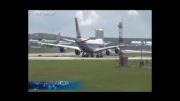 بای بای کردن با هواپیمای بوئینگ 747...!