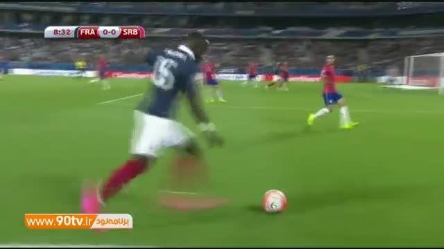 گلهای بازی: فرانسه ۲-۱ صربستان
