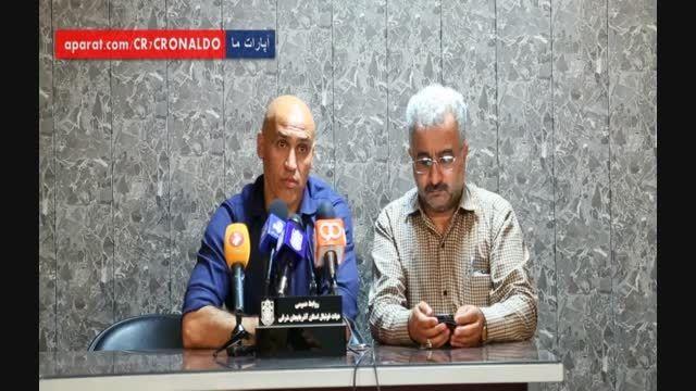 کنفرانس خبری علیرضا منصوریان پس از بازی با تراکتور