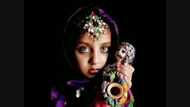 دختر افغان صاحب زیباترین چشم های جهان