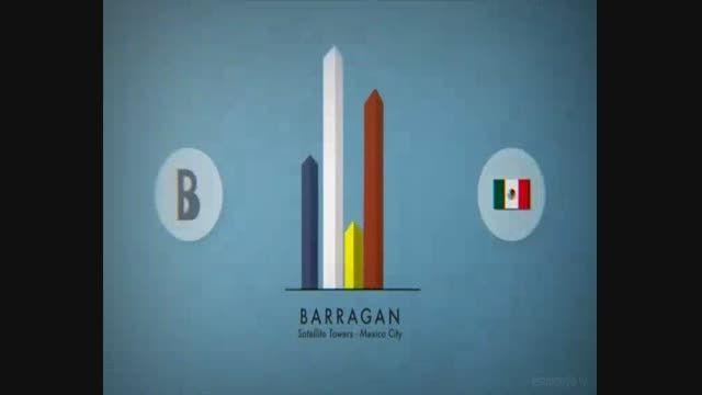 انیمیشن معرفی آثار مشهور معماری