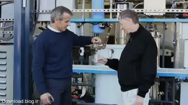 نوشیدن آب تصفیه شده از فضولات انسانی توسط بیل گیتس!