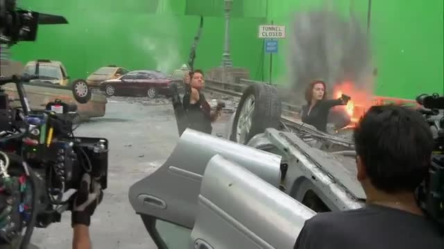 گوشه ای از پشت صحنه ی ساخت دومین قسمت بلک باستر