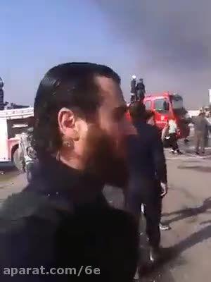 زدن کامیونهای ترکیه توسط جنگنده روسی در مرز سوریه-ترکیه