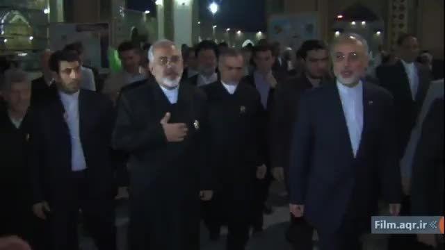 محمدجواد ظریف در شهر مشهدالرضا
