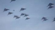 پرواز دسته جمعی جنگنده اف14 برای خداحافظی