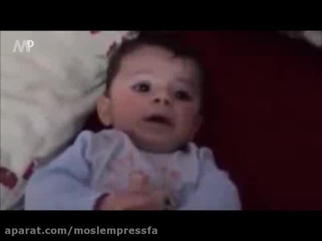 آرامش نوزاد شیرخواره با پخش صوت قرآن