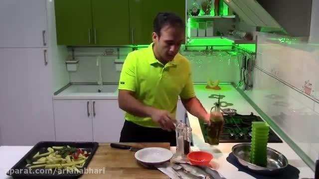 طرز تهیه ماهی قزل آلا با سیب زمینی