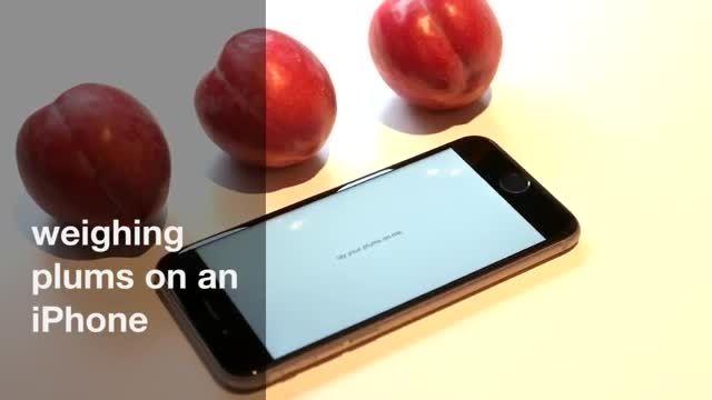 کاربرد جدید آیفون 6s: ترازوی آشپزخانه !!!