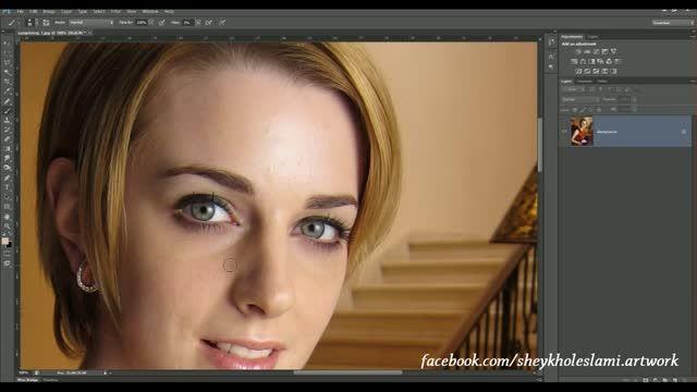 آموزش فتوشاپ - روتوش حرفه ایی چهره - قسمت ششم