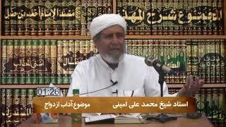 سخنرانی شیخ محمد علی امینی= آداب ازدواج. . .