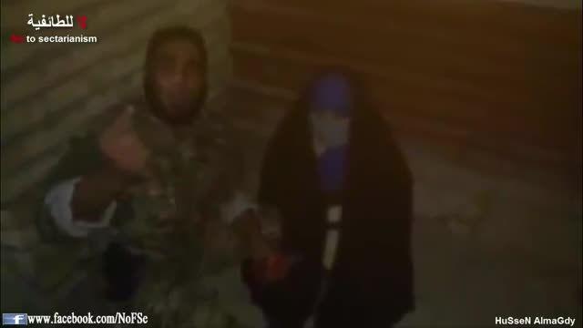 دستگیری زن سعودی انتحاری توسط حشدالشعبی -عراق-سوریه