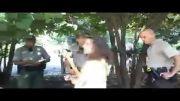 برخورد شدید پلیس با معترضان به مداخله ی آمریکا در سوریه