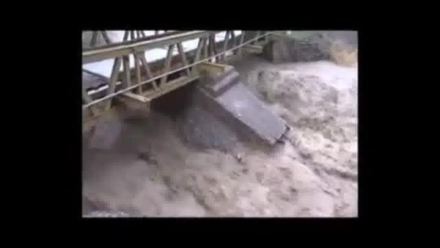 فیلم: سیلاب با جاده چالوس چه کرد؟