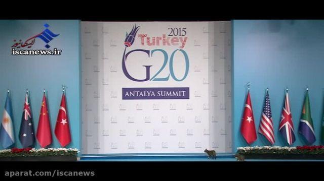 اتفاق با نمک حین پخش زنده کنفرانس بین المللی در ترکیه