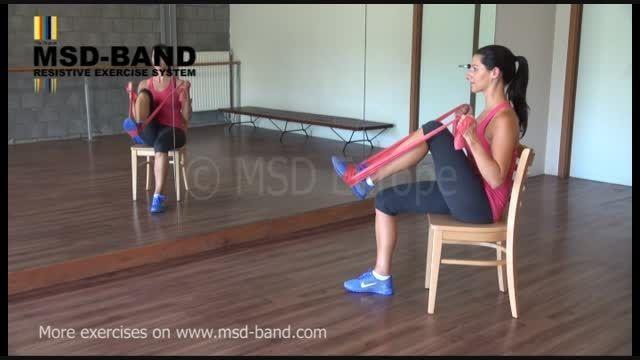 تمرین شماره 3- جهت تقویت عضلات پا
