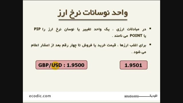 واحد نوسانات نرخ ارز