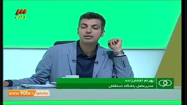گفتگو تلفنی با افشارزاده - از مشت جهانی تا هندزفری ها