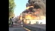 آتشسوزی مهیب انبار روغن در قزوین!....