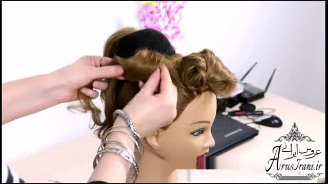 آموزش کامل مدل مو 29 - مدل موی عروس برای موهای متوسط