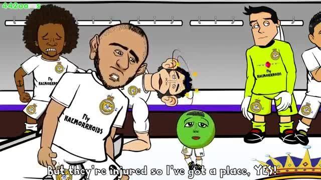انیمیشن جالب و طنز از بازی رئال مادرید و اتلتیکو مادرید