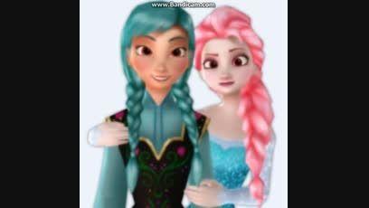 آنا و السا با موهای رنگی!