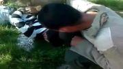 کینه وهابی های بی دین وقتی دستشون به یک جوان سوری میرسه!!