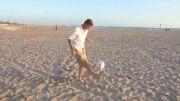 دیوید بکهام کنار ساحل - 3 شوت شگفت انگیز