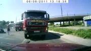 تصادف مرگبار کامیون با سواری