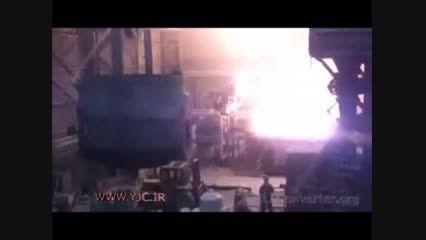 انفجار در کارخانه ذوب اهن