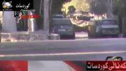 انهدام تانک در سوریه بدست یک فرد مسلح