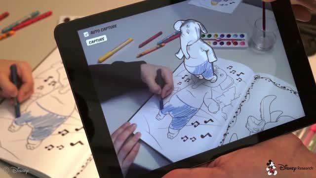 ابداع یک کتاب رنگ آمیزی شگفت انگیز توسط دیزنی