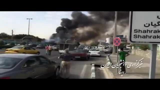 فیلم لحظه ای پس از سقوط هواپیما در مهرآباد