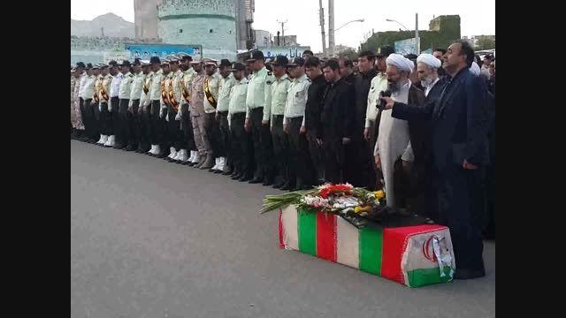 فیلم/ تشییع پیکر مامور نیروی انتظامی در اهر و هوراند