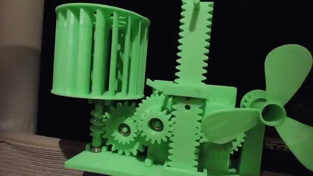ساخت دستگاه ذخیره انرژی بادی با استفاده از گرانش