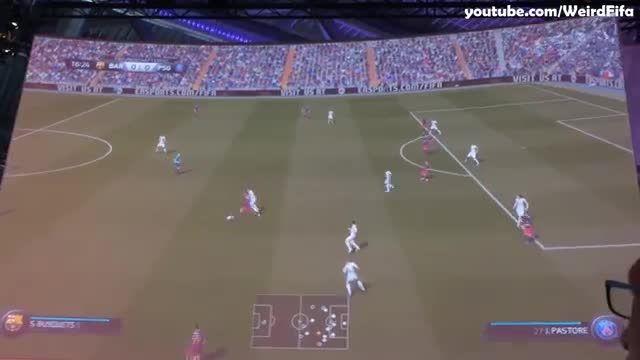 گیم پلی FIFA 16  بارسلونا - پاریسن ژرمن